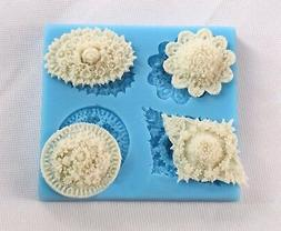 Ornaments Silicone Cake Mold Decorating Lace Impression Mat