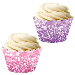 Andaz Press Party Cupcake Wrapper Decorations, Faux Pink and