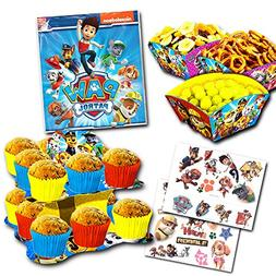 Paw Patrol Party Decorations Set -- Cupcake Stand, Snack Bow
