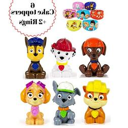 ToysoutletUSA Paw Patrol Cake Topper | 8 pcs Set Including 2