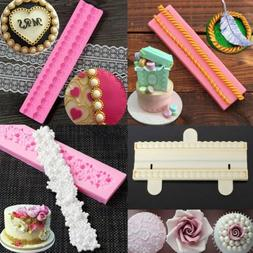 Pearl Beads String Silicone Fondant Mold Cake Decoration Sug