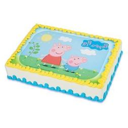 Whimsical Practicality Peppa Pig Edible Icing Image Cake Top