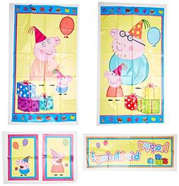 Amscan Peppa Pig Birthday Party Scene Setters Wall Decoratin