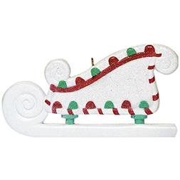 Personalized Sugar Sleigh Christmas Ornament for Tree 2018 -
