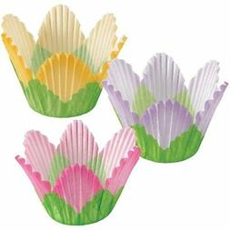 Petal Cupcake Baking Cups 24 ct from Wilton assorted colors