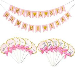 Pink Baby Shower Decorations for Girls, It's A Girl & Baby S
