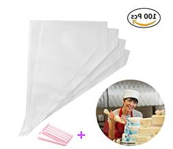 Piping Bags 16-Inch 100 Pack Pastry Bag Icing Bags Frosting