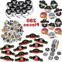 Pirate Party Supplies for Boys and Girls | 280 Birthday Part