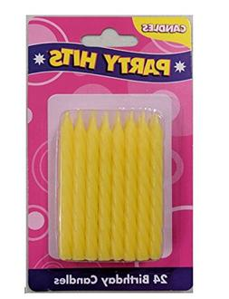 Oasis Supply Plain Birthday Candles, 2-Inch, Yellow, 36 Cand