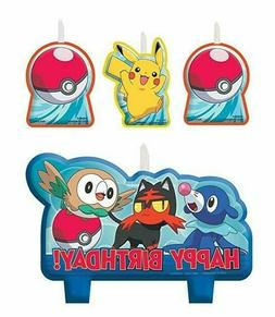 Pokemon Birthday Candle Set Kids Party Supplies Cake Decorat