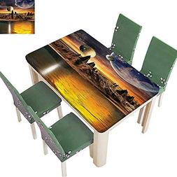 Polyesters Tablecloth Alien Planet h and Mounta Fantasy Sci
