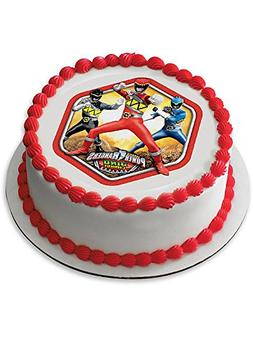 "Power Rangers 7.5"" Round Edible Cake Topper  - Party Supplie"