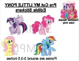 Pre-Cut My Little Pony EDIBLE Cake Stickers Decals Cake Deco