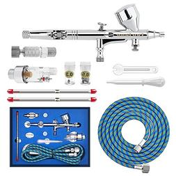 Gocheer High Precision Dual Action Gravity Feed Airbrush Kit