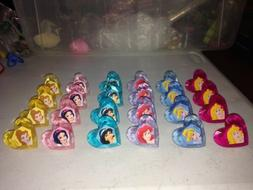 DISNEY PRINCESS HEART SHAPED CUPCAKE RINGS OFFICIAL LICENSED