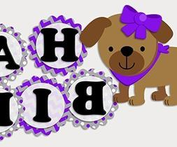 Puppy Dog Birthday Banner Party Decoration Supplies for Girl