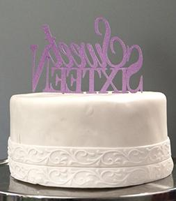 All About Details Purple Sweet-sixteen Cake Topper