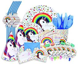Unicorn Decorations for Birthday Party - Complete 96 Piece S