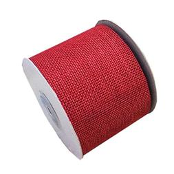 "Red Linenette Jute Burlap Ribbon Roll 2"" Width 10 Yards Long"