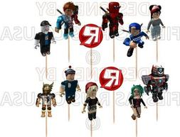 Roblox Cupcake Toppers 12 or 24 pc. Roblox Party Supplies Ca