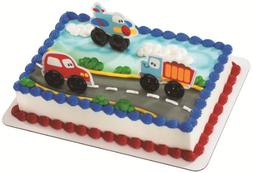 rolling vehicles decoset cake decoration