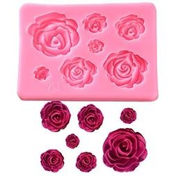 SaSa Design Rose Silicone Mold,Small Soap Clay Fimo Chocolat