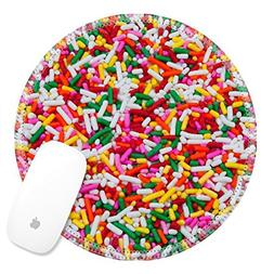 Luxlady Round Gaming Mousepad 23229532 Rainbow sugar topping