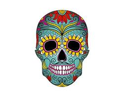 "Art of Eric Gunty - 8"" Round ~ Sugar Skull Colorful Birthday"