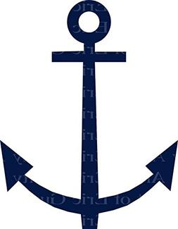 "8"" Round - Navy Sailing Anchor Birthday - Edible Cake/Cupcak"