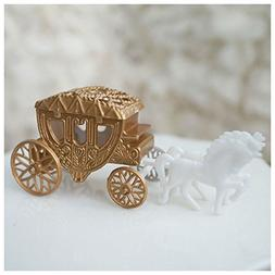 Royal Vintage Cinderella Horse and Carriage Coach Cake Toppe