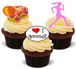 Running Mix Female Pink - Fun Novelty Birthday PREMIUM STAND