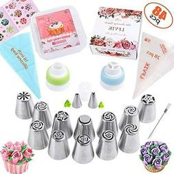 russian icing dispensers and tips piping set