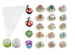 JJMG NEW Russian Icing Piping Tips Christmas Design For Cake