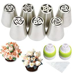 russian piping tips floral frosting