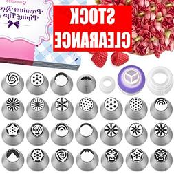 Russian Piping Tips Set - 50 Cake Decorating Supplies - Cake