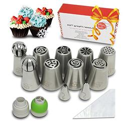Russian Piping Tips Set - 28 Pieces Cake Decorating Tips Inc