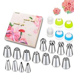 Russian Piping Tips Set - 53 PCS Cake Decorating Tips set In