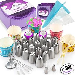 109 Pcs Russian Piping Tips Set - Cake Decorating supplies G