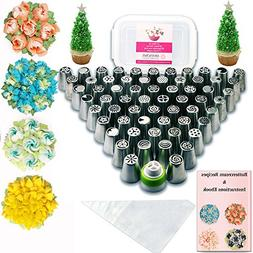 Russian Piping Tips Baking Supplies - 112 pcs - Complete set