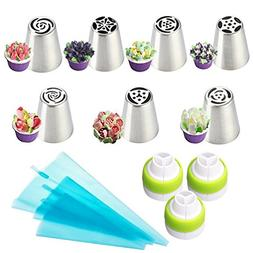 LUCKSTAR Russian Piping Tips 13pcs - Icing Piping Nozzles DI