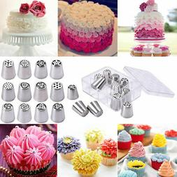 12PCS Russian Stainless Nozzles Tips Cake Decorating Pastry