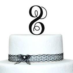 Buythrow Monogram Cake Toppers -Unique Wedding Cake Toppers