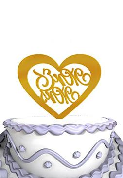 Meijiafei Script Mr Mrs In Heart Wedding Cake Decoration- Mi