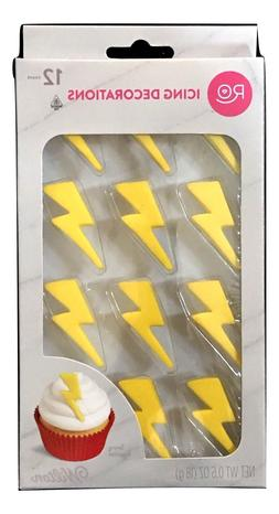 1X Set Ro By Wilton Lightning Bolt Icing Decorations Cake Cu