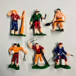 Set of 6 Vintage Pirate Cupcake Cake Toppers Toy Birthday Pa