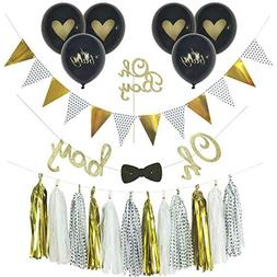 Qutechat Baby Shower Decorations Boy, Oh Boy Cake Topper, Oh