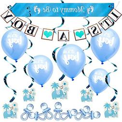 ARTIT Baby Shower Boy Blue Decoration Set All-in-1 Perfect P