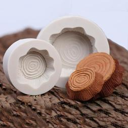 Silicone 3D Stump and Tree Annual Ring Shaped Mold Cake Choc