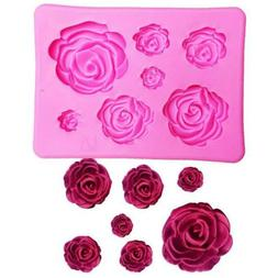 Silicone Cake Decorating Fondant Mould Sugarcraft 3D Rose Fl