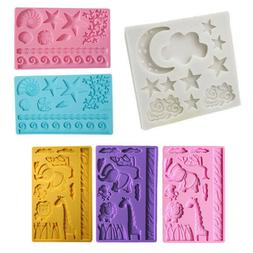 Silicone Fondant Cake Mold Mould Chocolate Baking Sugar craf